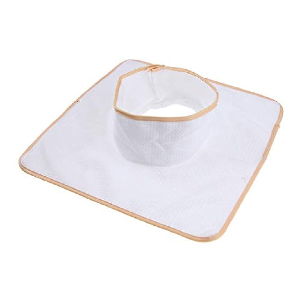 疲労に沿って想定マッサージのベッド用 パッド マットシート 顔の穴付き 洗える 約35×35cm 全3色 - 白