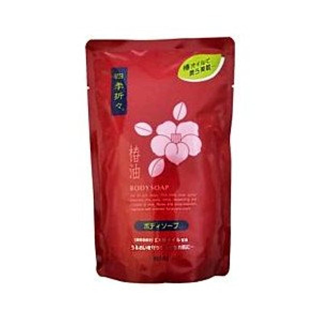 定期的に添付気分熊野油脂 四季折々 椿油 ボデイソープ 詰め替え用 450ML×24点セット