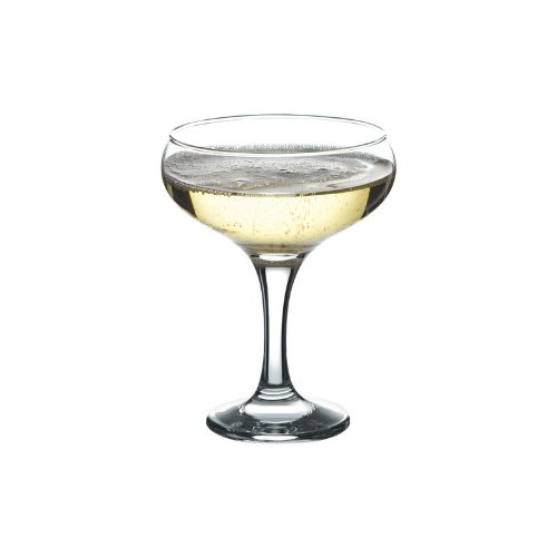Bistro Champagne Saucers 9.7oz / 275ml - Set of 12 | 27.5cl Champagne Glasses, Champagne Coupe Glasses, Elegant and Affordable! by Utopia Tableware
