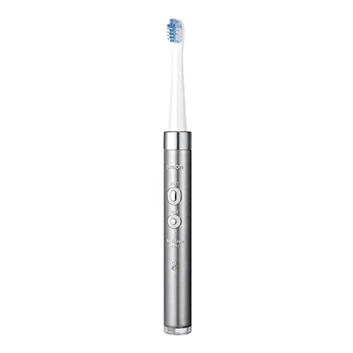 煙突言い直す一時的オムロンヘルスケア 音波式電動歯ブラシ HT-B312-SL シルバー