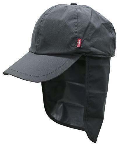 [エドウィン] レインウェア キャップ レインキャップ 防水 雨具 アウトドア メンズ ブラック Free