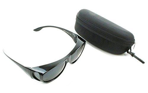 PLOTONE 花粉 対策に オーバーサングラス メガネの上から掛けられる 光 紫外線 カット 疲労を軽減 メガネ メンズ レディース