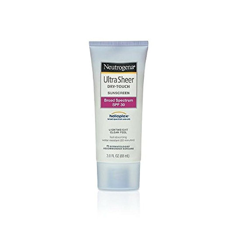 可動説教する制限されたNeutrogena Ultra Sheer Sunblock Dry Touch SPF 30 (並行輸入品)