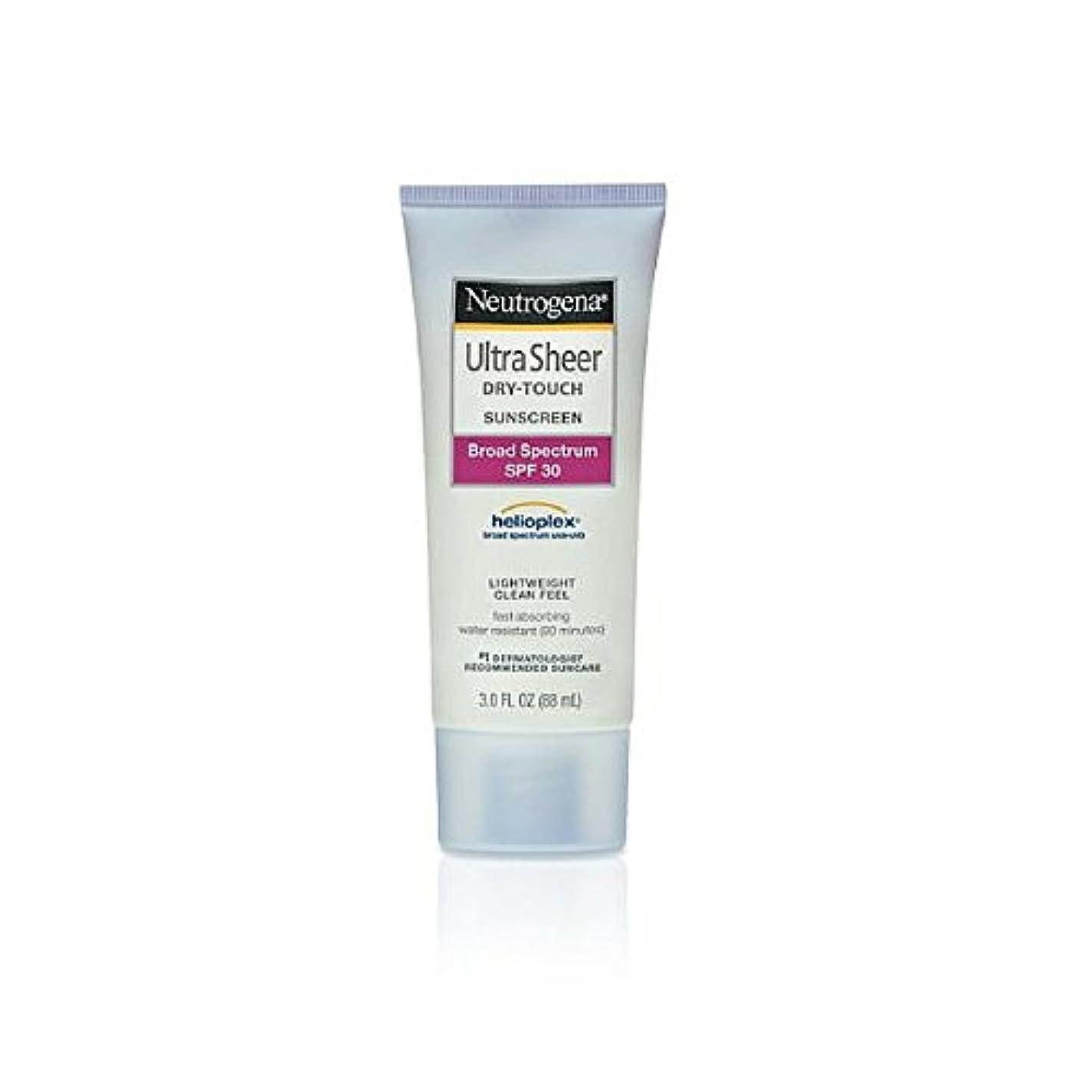 お誕生日二層行方不明Neutrogena Ultra Sheer Sunblock Dry Touch SPF 30 (並行輸入品)