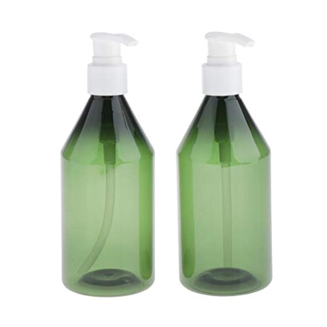 地上でいうお願いしますCUTICATE 2個 プレスボトル ポンプボトル 詰替え 空のボトル 遮光ピン UV保護 紫外線防御 300ML 多選択 - 緑+白