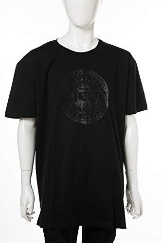 (バルマン) BALMAIN Tシャツ ブラック×シルバー メンズ (W8H 8060 I250) 【並行輸入品】