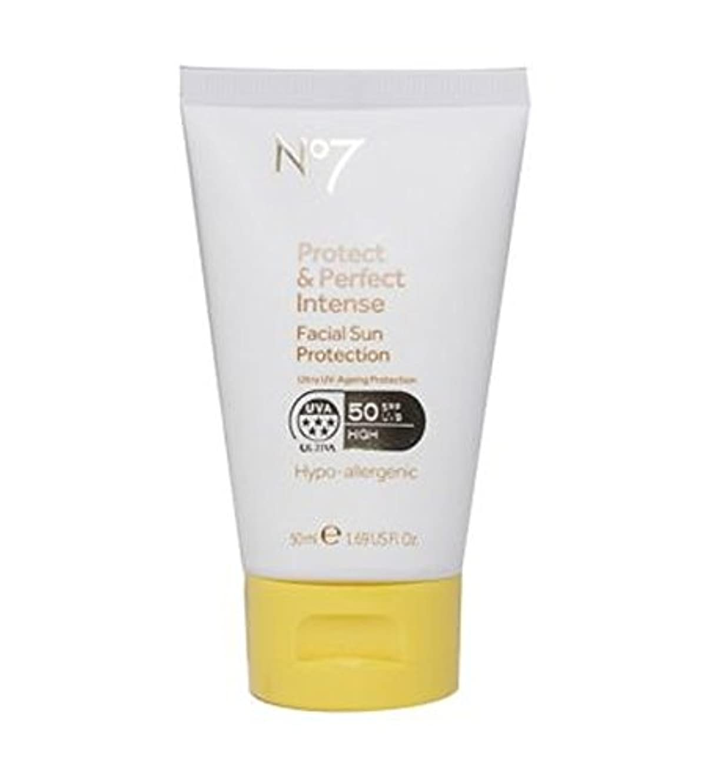 手紙を書く読む神経衰弱No7 Protect & Perfect Intense Facial Sun Protection SPF 50 50ml - No7保護&完璧な強烈な顔の日焼け防止Spf 50 50ミリリットル (No7) [並行輸入品]