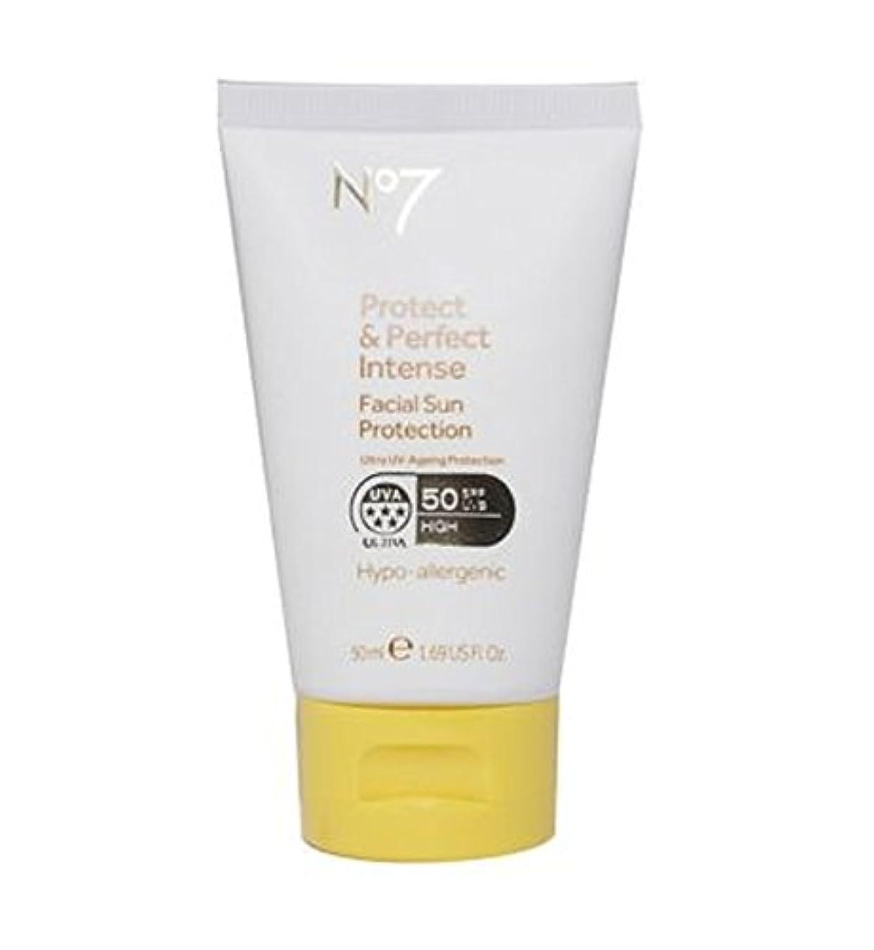 汚染国旗パンNo7保護&完璧な強烈な顔の日焼け防止Spf 50 50ミリリットル (No7) (x2) - No7 Protect & Perfect Intense Facial Sun Protection SPF 50 50ml...