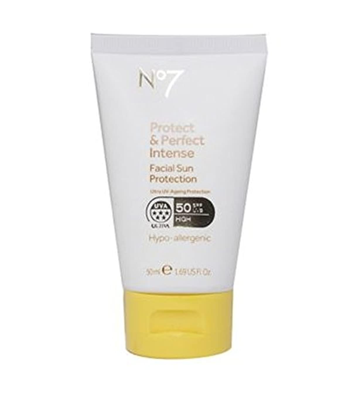 脅迫勇気アクティビティNo7保護&完璧な強烈な顔の日焼け防止Spf 50 50ミリリットル (No7) (x2) - No7 Protect & Perfect Intense Facial Sun Protection SPF 50 50ml...