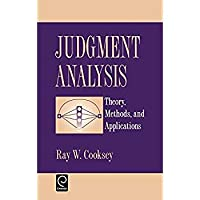 Judgment Analysis: Theory Methods and Applications (Economic Theory Econometric and)【洋書】 [並行輸入品]