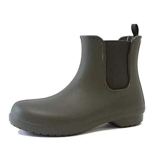 クロックス crocs フリーセイル チェルシー ブーツ ウィメン 204630 (レディース)(ダークカモグリーン W7(23cm))