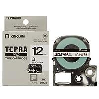 (まとめ) キングジム テプラ PRO テープカートリッジ マットラベル 12mm 白/黒文字 SB12S 1個 【×5セット】 〈簡易梱包