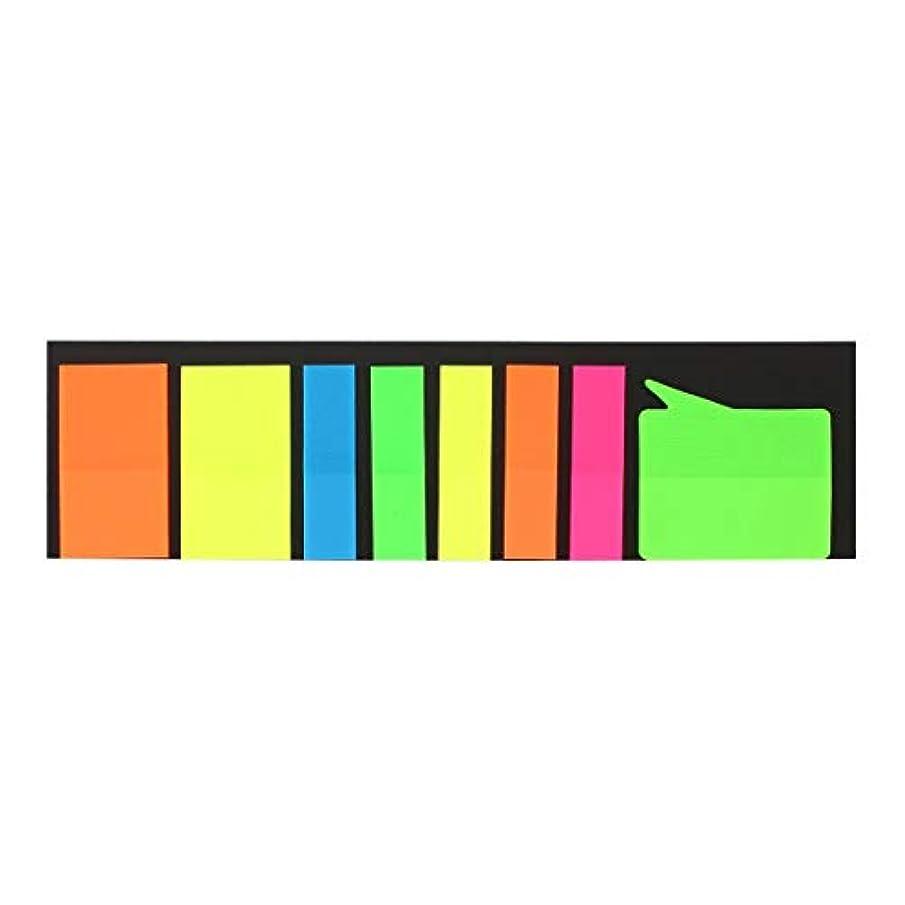 することになっている上下する物語カラフルな付箋メモポータブルミニページマーカーさまざまな形がタブを示すメモステッカーとボトムカード-ランダム