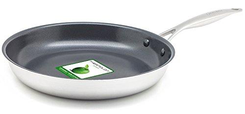 グリーンパン フライパン エバーシャイン シルバー 28cm IH対応