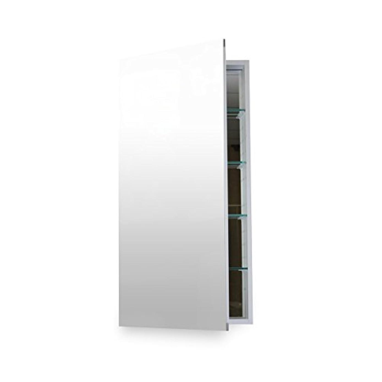 樹皮魂規則性FlawlessバスルームMC 1236 Medicine Cabinet with Blumソフト閉じるドアヒンジ、12 x 36インチ、陽極酸化アルミニウム