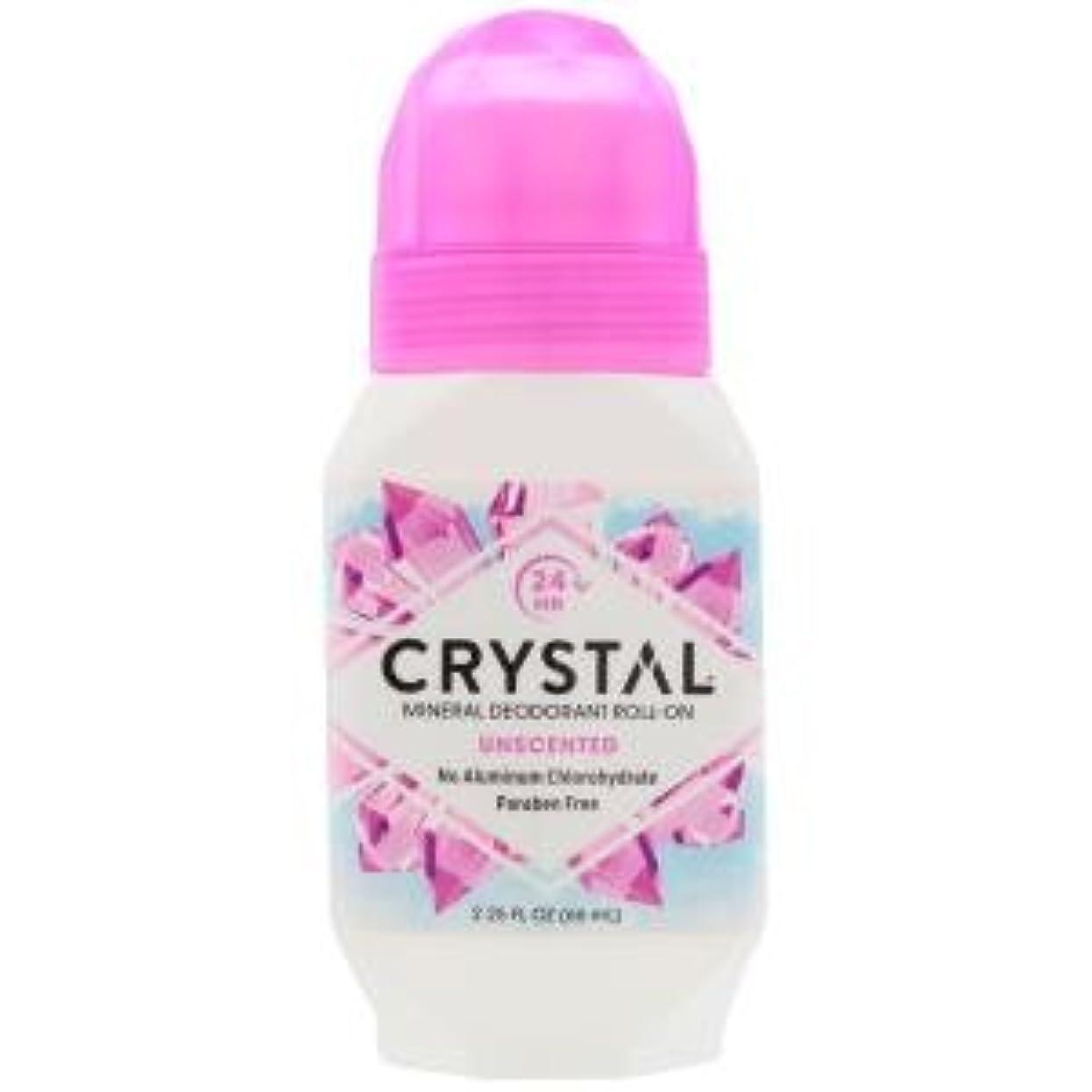 エレクトロニック会計士上がる[海外直送品] クリスタルボディデオドラント(Crystal Body Deodorant) ロールオン(無香料) 66ml