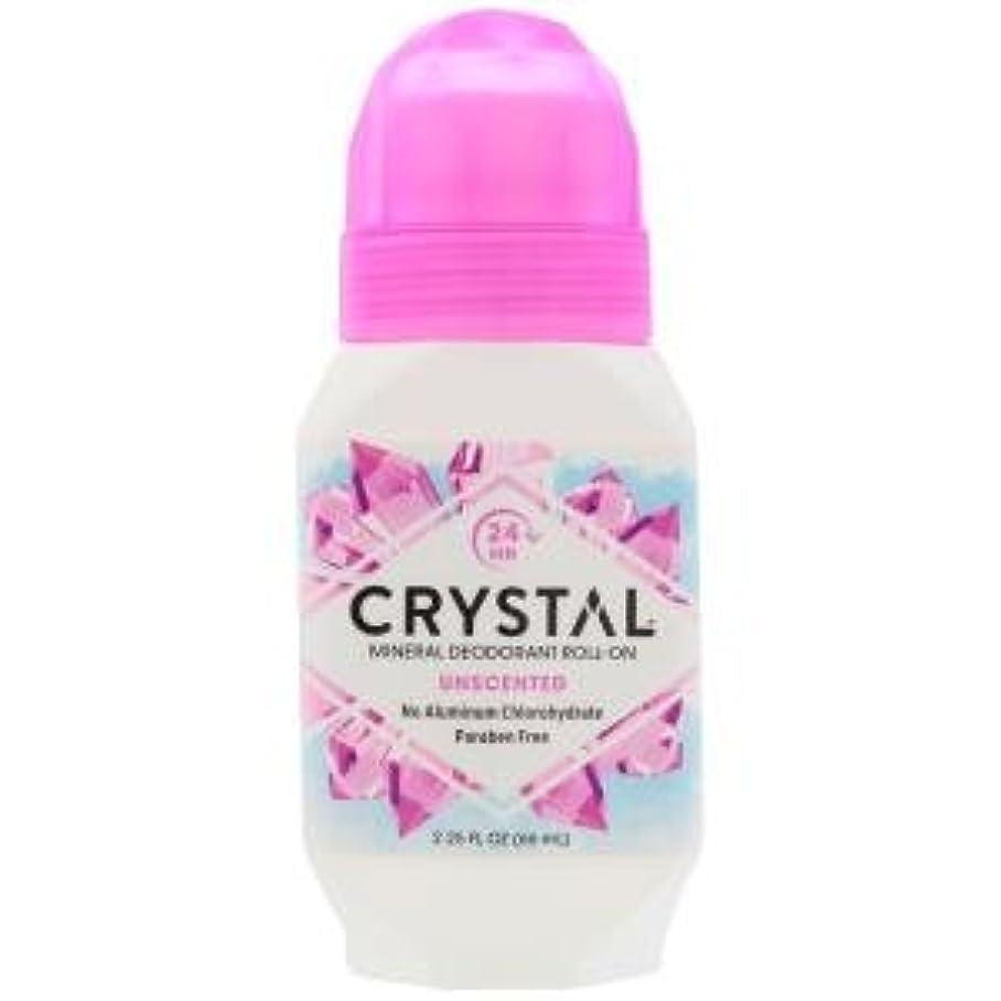 ましい倒錯アート[海外直送品] クリスタルボディデオドラント(Crystal Body Deodorant) ロールオン(無香料) 66ml
