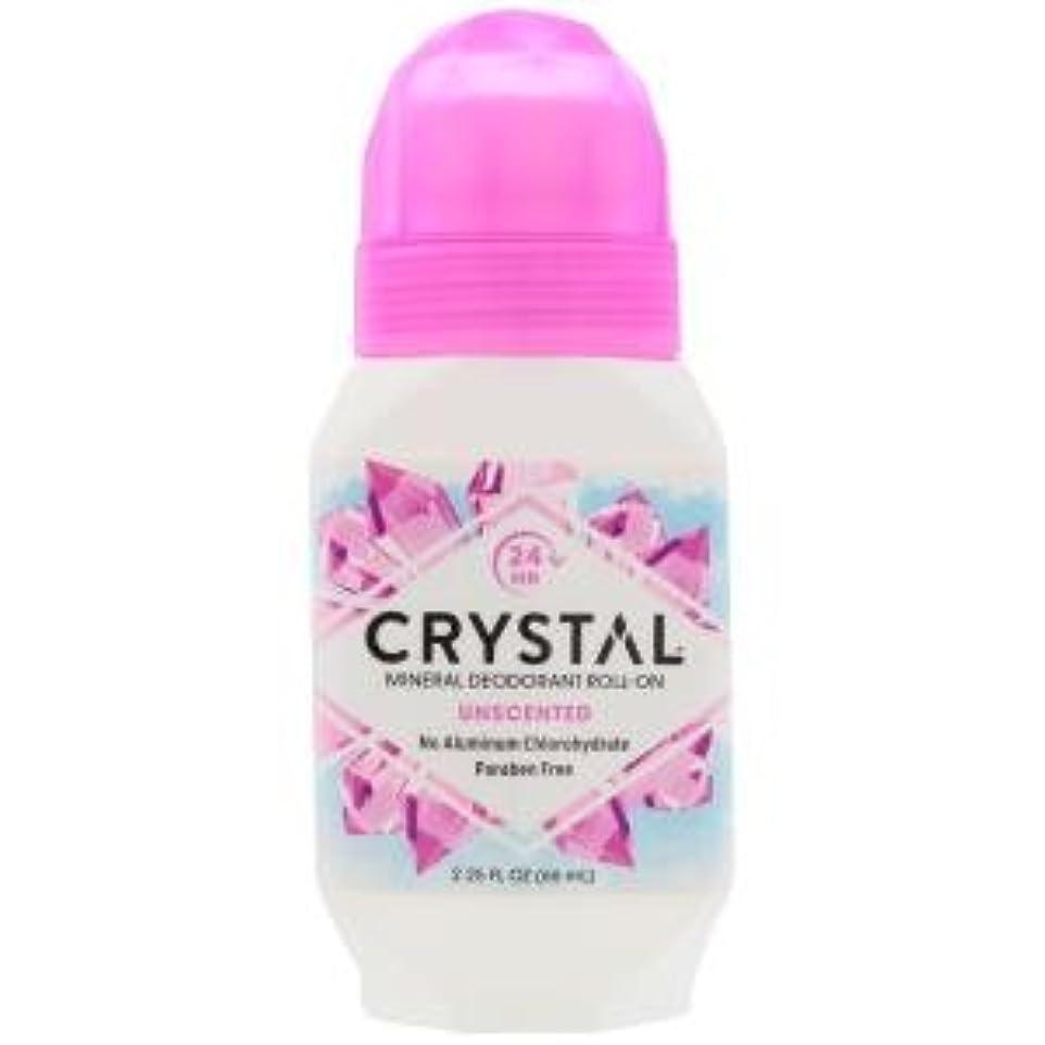 プログラム近く消化[海外直送品] クリスタルボディデオドラント(Crystal Body Deodorant) ロールオン(無香料) 66ml