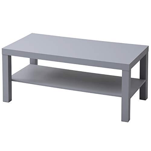 山善(YAMAZEN) コーヒーテーブル ライトグレー (90×45cm) 組立簡単 コンパクト TCT-9045(LGY)