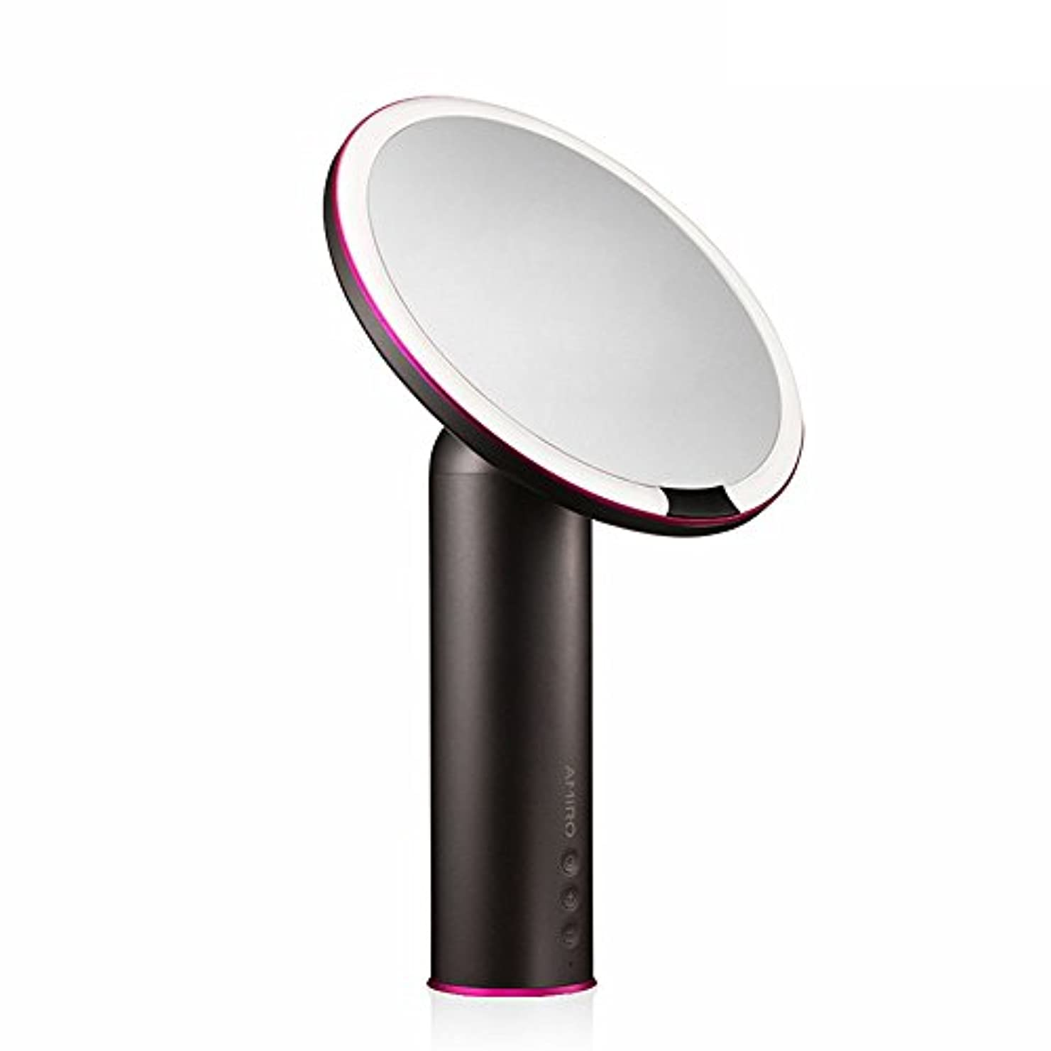 代理店ライフル欺AMIRO LED化粧鏡 人感センサー付き 化粧ミラー LEDライト付き 卓上鏡 女優ミラー 3段階明るさ調節可能 コードレス 充電式