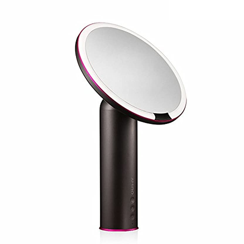 ゆるい名義で不愉快AMIRO センサー化粧鏡 化粧ミラー LEDライト付き 卓上鏡 女優ミラー 3段階明るさ調節可能 コードレス 充電式