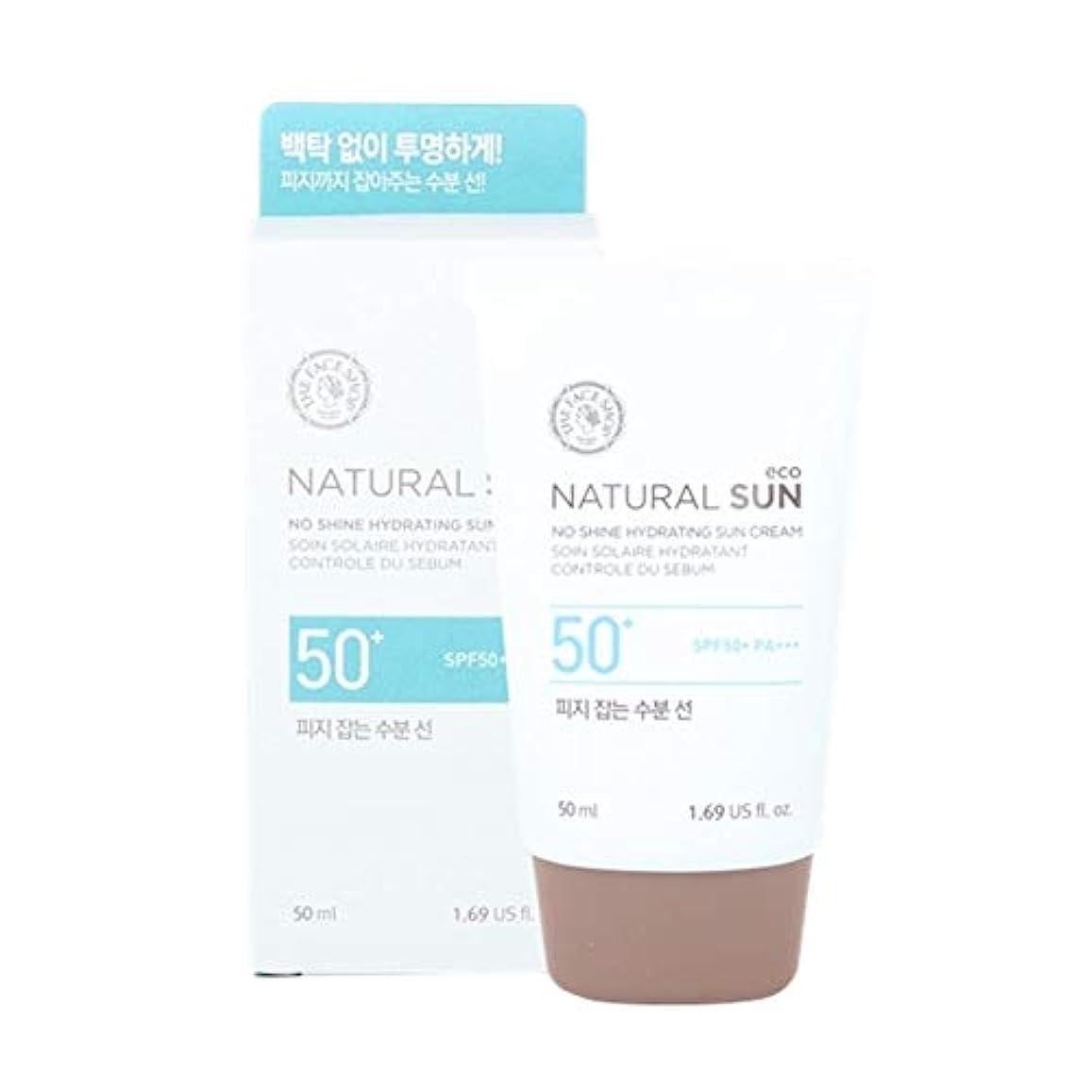 乳白核クールザ?フェイスショップネチュロルソンエコフィジーサン?クリームSPF50+PA+++50ml x 2本セット韓国コスメ、The Face Shop Natural Sun Eco No Shine Hydrating Sun...