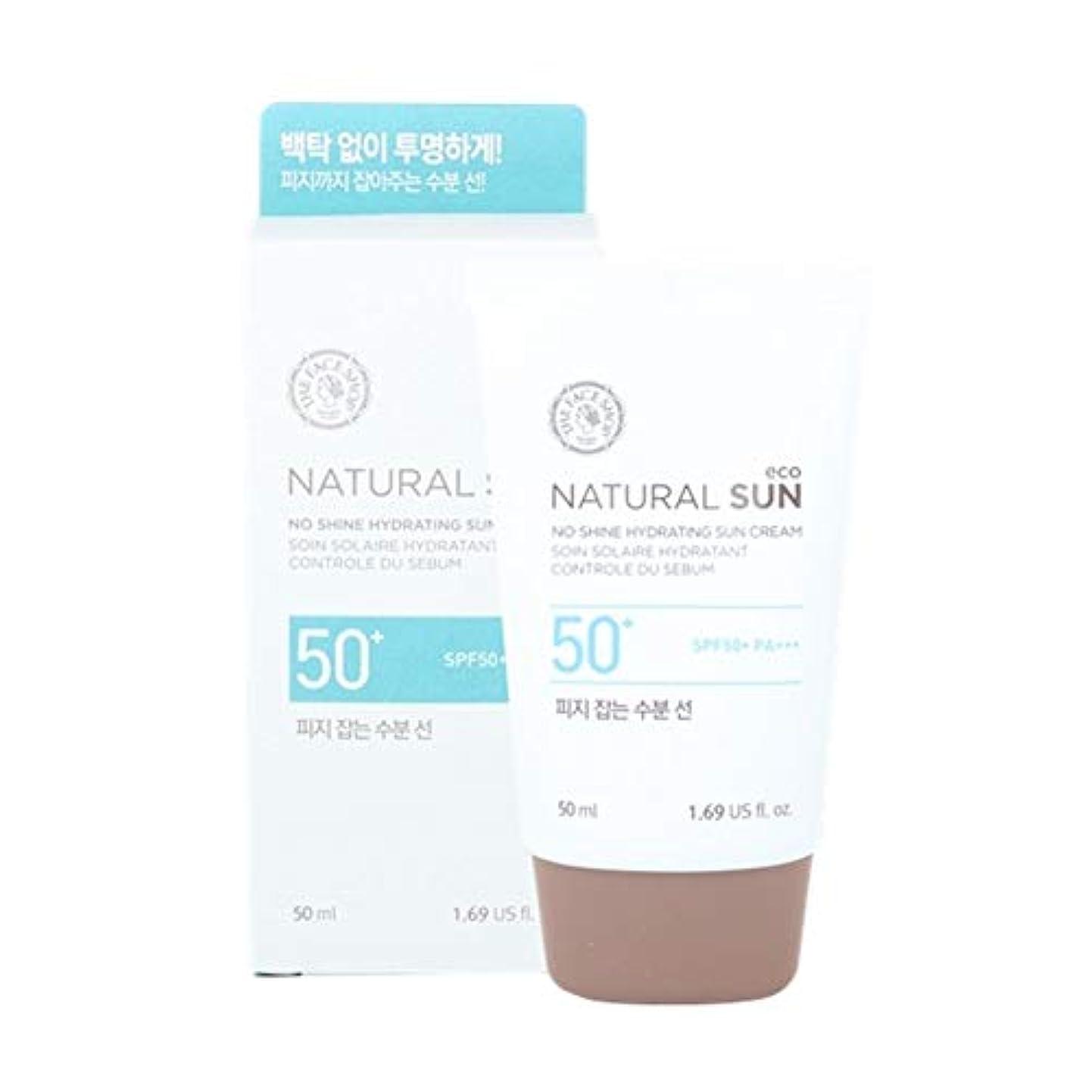 部族障害者現実的ザ?フェイスショップネチュロルソンエコフィジーサン?クリームSPF50+PA+++50ml x 2本セット韓国コスメ、The Face Shop Natural Sun Eco No Shine Hydrating Sun...