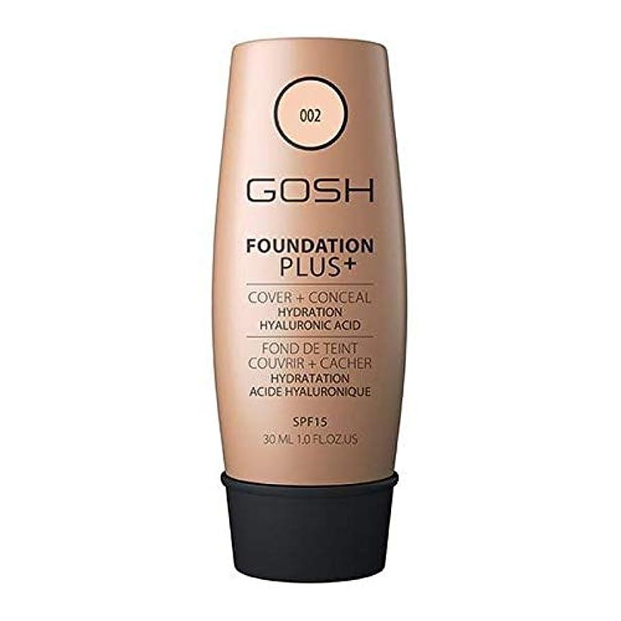 滝テザーショート[GOSH ] おやっ基礎プラス+アイボリー002 - Gosh Foundation Plus+ Ivory 002 [並行輸入品]