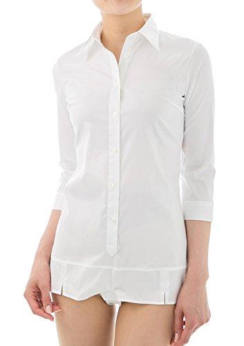 ボディシャツ7分袖ツナギ L2 S&E ホワイト