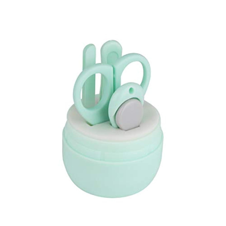 宙返り友情大使館Jiaoran 漫画くまの爪切りステンレス鋼の赤ん坊の釘用具セット赤ん坊の美用具セット4赤ん坊のマニキュア用具、各パックのための1 (Color : Green)
