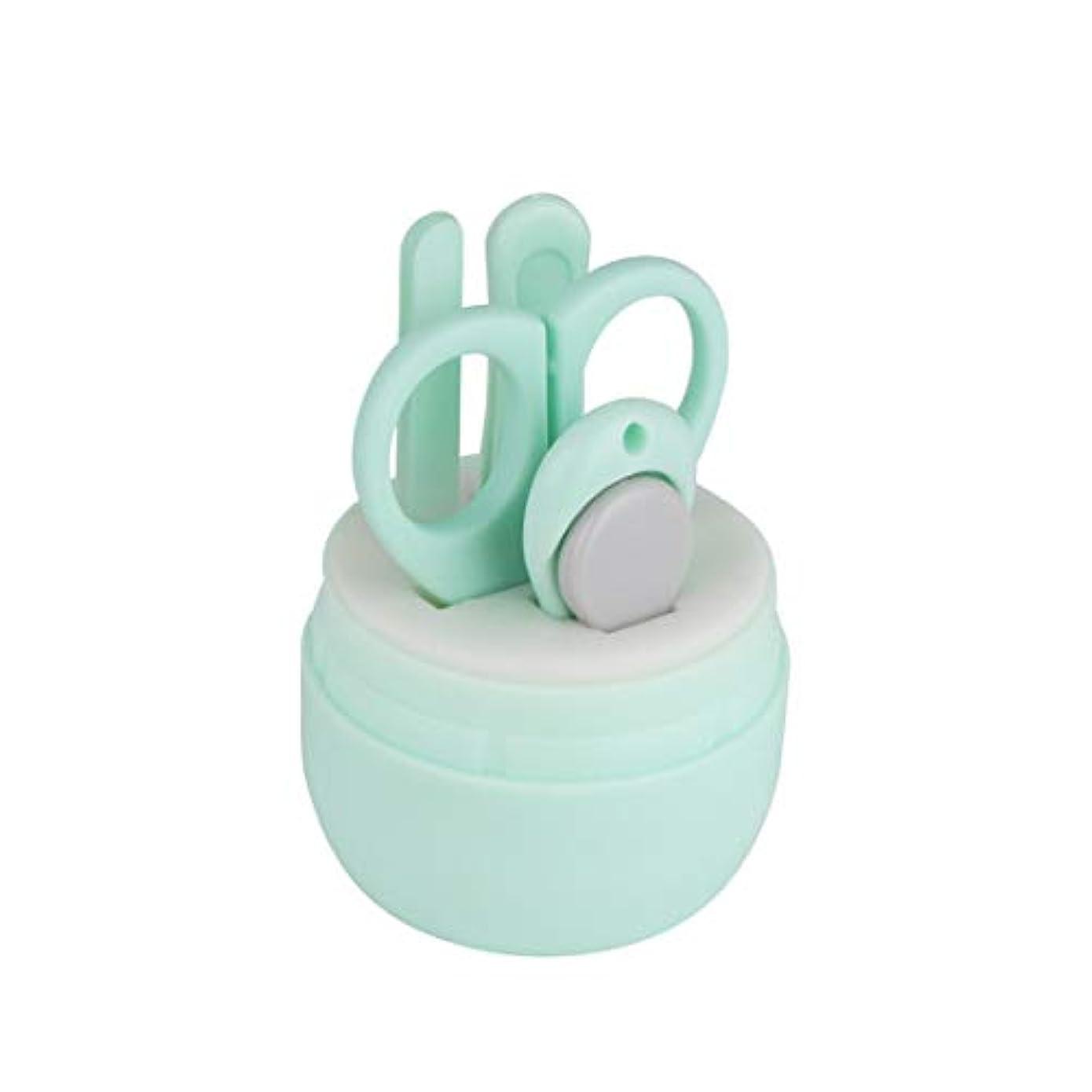 文献納得させる優れましたJiaoran 漫画くまの爪切りステンレス鋼の赤ん坊の釘用具セット赤ん坊の美用具セット4赤ん坊のマニキュア用具、各パックのための1 (Color : Green)
