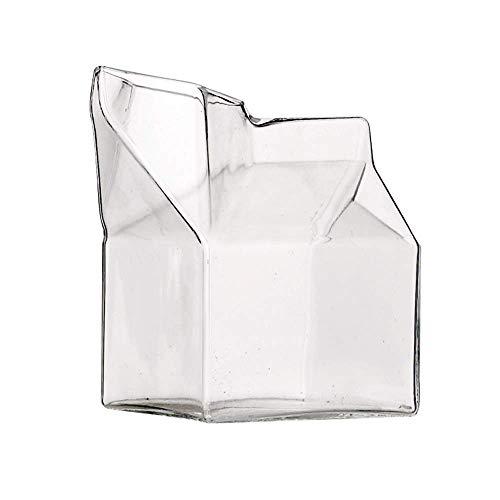 RoomClip商品情報 - 【フリー スタイル】 牛乳パック型 ミルクピッチャー ガラス製 7×7×9.5cm