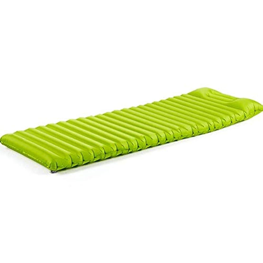 差し引く哲学博士未亡人エアバッグおよび枕が付いている膨脹可能な睡眠のマット、ビーチのためのロールマットの携帯用空気ベッドを膨脹させる超軽量のキャンプのマットレスの寝袋