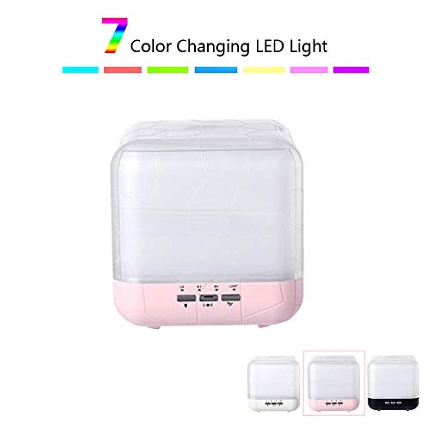 カテゴリーナサニエル区悪化させるエッセンシャルオイルディフューザー、1000mlアロマセラピー香り付きオイルディフューザー気化器加湿器、ウォーターレスオートオフ7 LEDライトカラー,ピンク