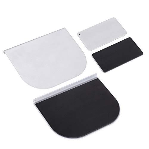 モニターアーム補強プレート 取付部硬さ強化対策 デスク保護 傷防止 滑り止めシート付き シルバー