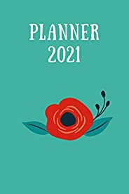 2021 Planner: daily planner 365 , Daily Diary 2021 One Page Per Day Fully Lined and Dated Journal Calendar,cal