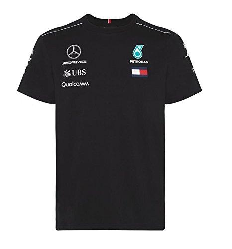 [해외]메르세데스 AMG 페트로나스 F1 2018 팀 드라이버 T 셔츠 블랙/Mercedes AMG 2018 Team Driver T-shirt Black