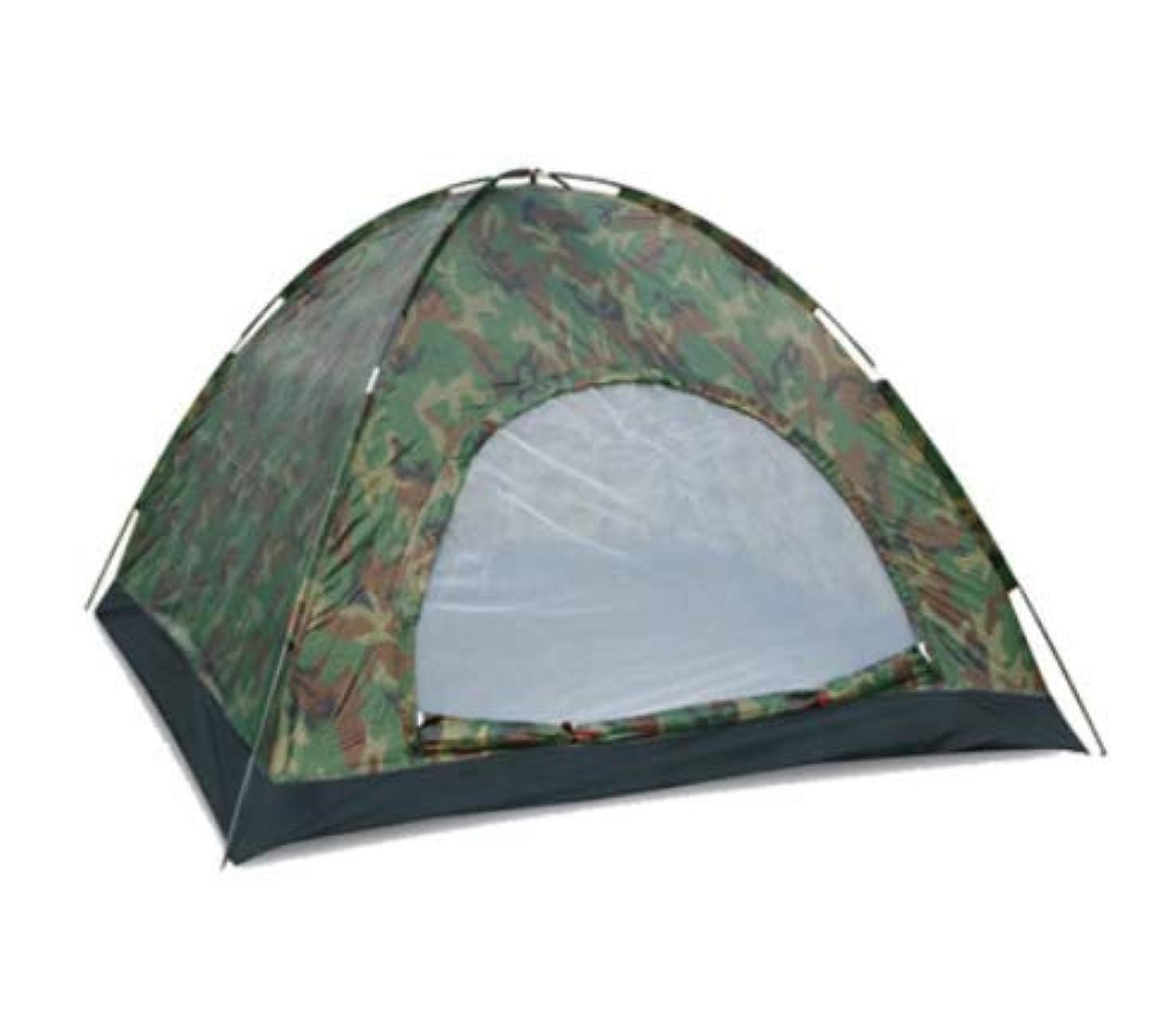 ヘッジ初期の顕著Feelyer 迷彩アウトドアキャンプテント3-4人防水PU1500ミリメートル風と紫外線保護200 * 200 * 135センチメートル安定構造換気 顧客に愛されて
