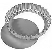 (Silverwood) 緩いベース大陸フラン錫12センチメートル、銀 (x4) - Silverwood Loose Base Continental Flan Tin 12cm, Silver (Pack of 4) [並行輸入品]