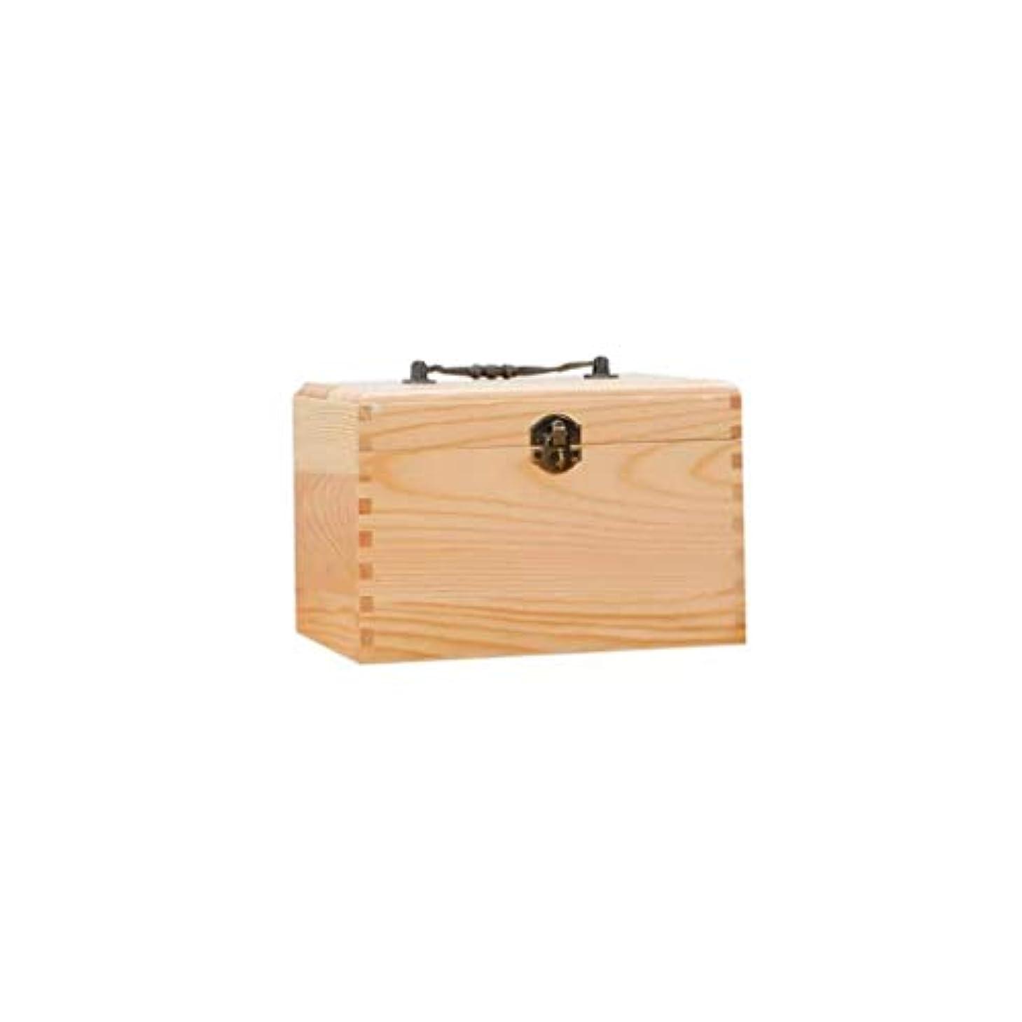最初は膨らませる残酷純木薬箱ポータブル救急箱家庭用薬収納ボックス化粧品ケース21×14×14cm AMINIY