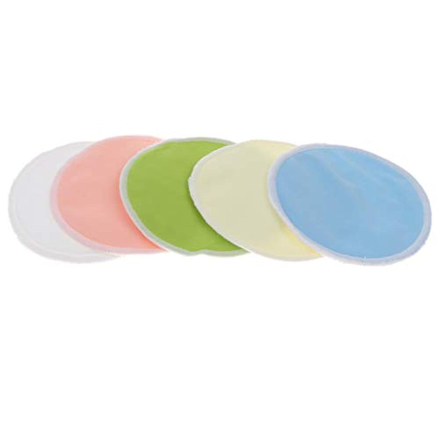 教科書乳製品親密な5本 メイク落としコットン 胸パッド 竹繊維 クレンジングシート 洗濯可能 再利用可 全2タイプ - 01