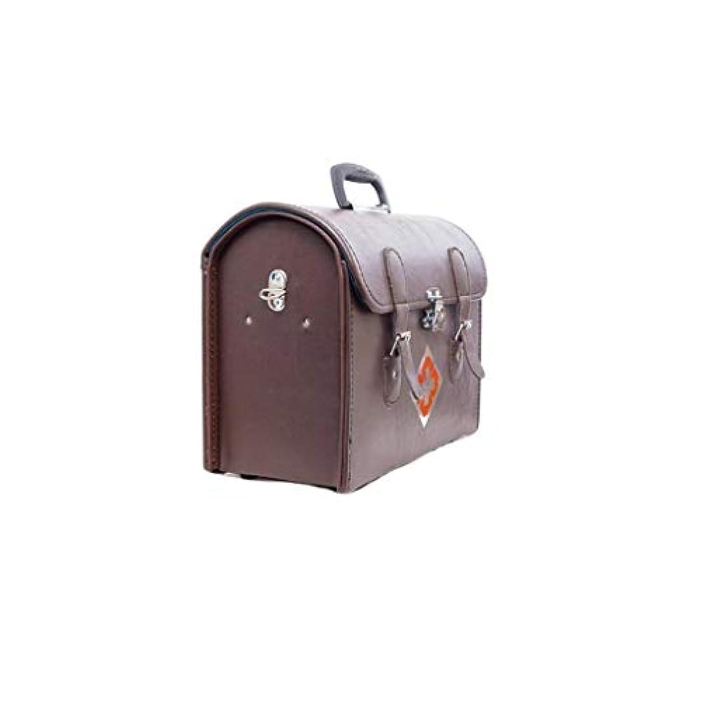 むさぼり食うタイプライター思いつく革薬箱家庭薬収納ボックス多機能救急箱医療肥厚外来パッケージ ZHYGDQ (Size : 38×18×31cm)