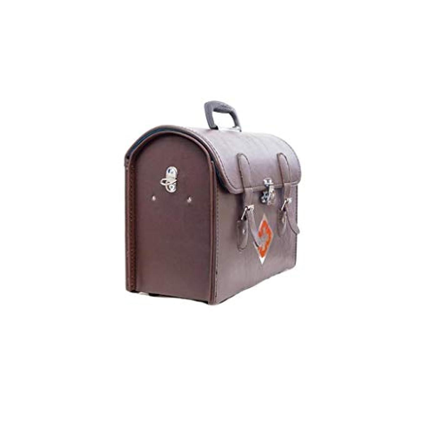 環境に優しい可愛いマーチャンダイザー革薬箱家庭薬収納ボックス多機能救急箱医療肥厚外来パッケージ AMINIY (Size : 38×18×31cm)