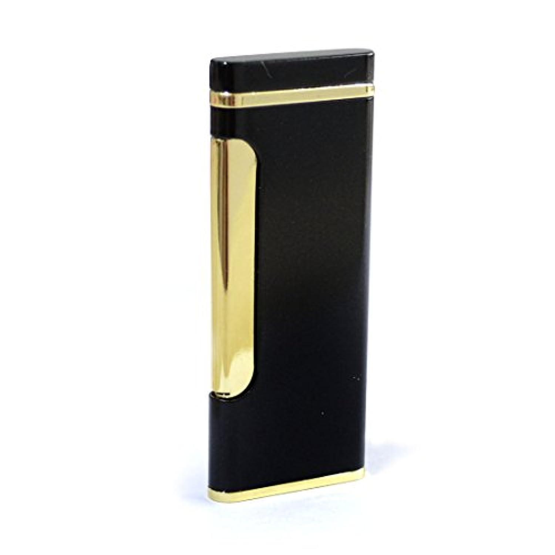 Yinoポータブルクラシック防風暖房ワイヤジェットFlameブタンCigarette Cigar Gas Refillable Lighter – ブラック