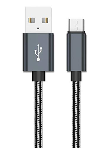 AXYO Micro USB ケーブル 急速充電 高速データ転送 20cm マイクロUSB 充電ケーブル 高耐久 メタル編み Huaw...