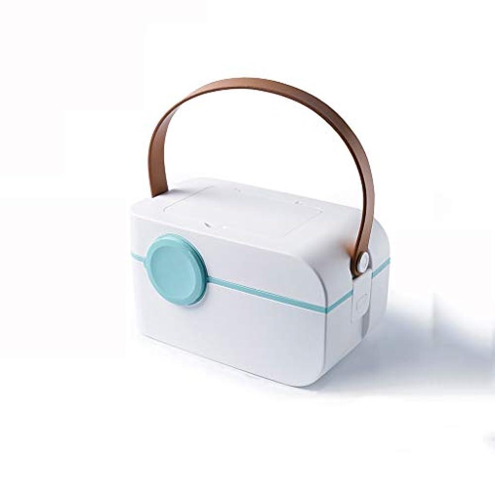 フォーマットベーリング海峡同じ多層薬箱多機能医療箱薬収納ボックスポータブル救急箱小さなピルボックス多色オプション CQQO (Color : White)