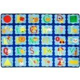 Joy Carpets Kid Essentials Infants & Toddlers Alphabet Blues Rug Multicolored 7'8 x 10'9 [並行輸入品]