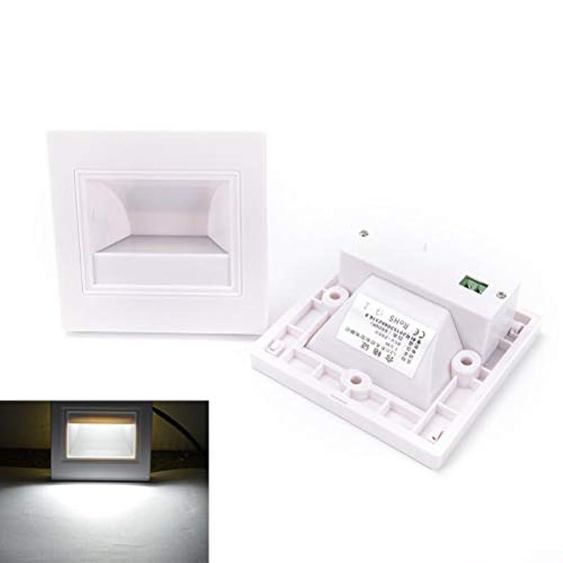 アクセルジャケット受動的壁面ライト, マルチカラー埋め込み階段ウォールランプステップランプ屋内クール/ウォームホワイト、ゴールド AI LI WEI (Color : White)