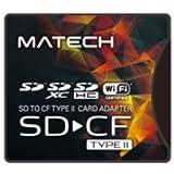 MATECH CFカード アダプタ SDカードからコンパクトフラッシュカード TypeII (タイプ2) 高速変換 WiFi SD対応【国内1年保証】SD2CF2AD