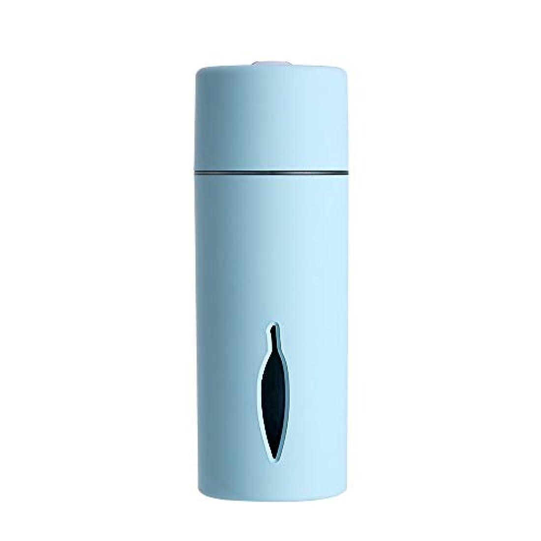 リール宿命王女ZXF クリエイティブ新しいカラフルな夜の光の葉加湿器usb車のミニホームスプレー楽器水道メーターブルーセクションピンク 滑らかである (色 : Blue)